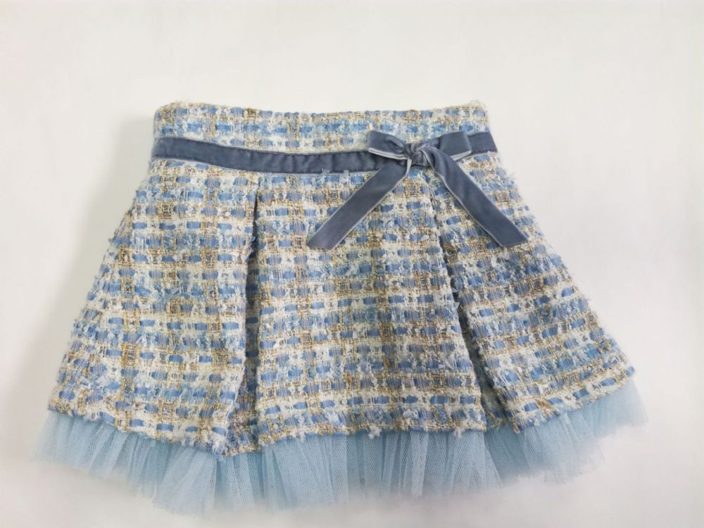Little Lady Tweed Style Sparkle Skirt